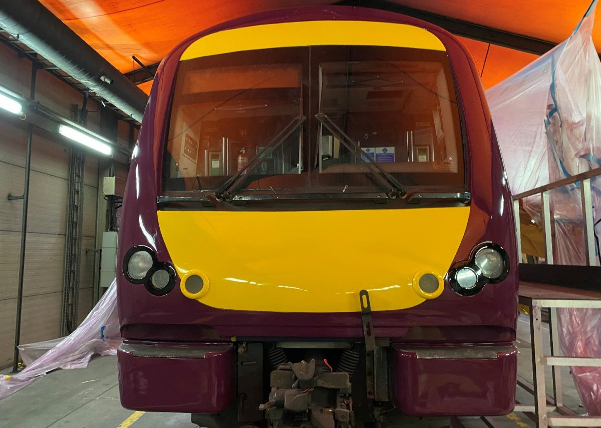 East Midlands Railway – Class 170 – Full external livery change with Cotech Coating protection